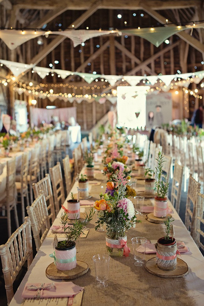 Rustic Wedding Reception Inside The Barn