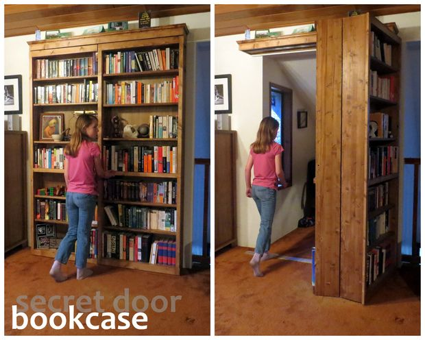 Hogwarts style secret door bookcase for book lovers How to make an invisible bookshelf