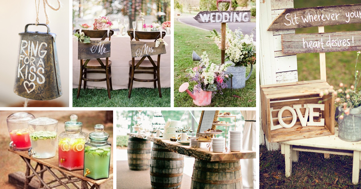 Shine On Your Wedding Day With These Breath Taking Rustic Ideas Cute DIY Projects
