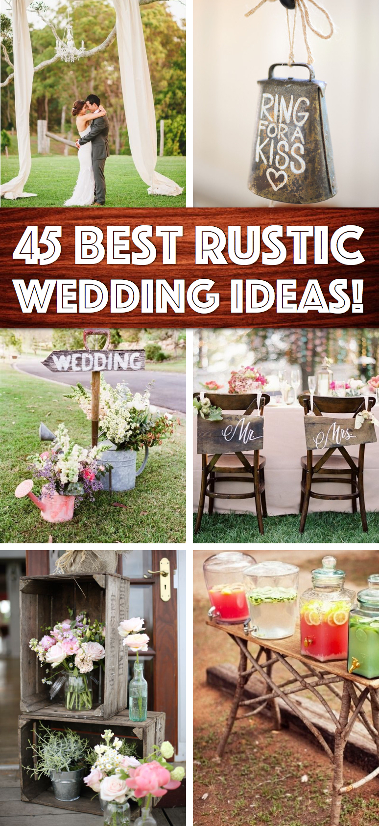 Shine on your wedding day with these breath taking rustic for Wedding decorations home