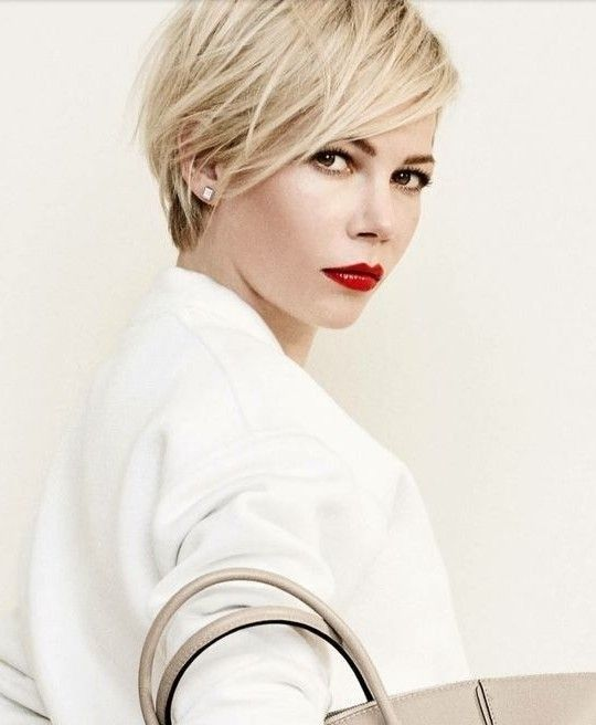Short Asymmetric Blond Haircut