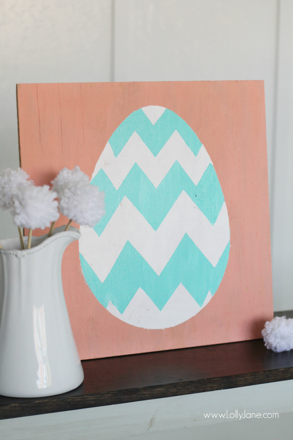 Spring Easter Egg Sign Decor