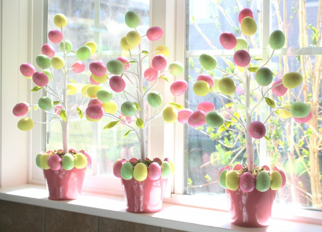 8 target dollar egg tree - Easter Decoration