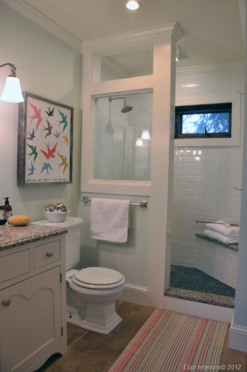 50 small bathroom ideas that you can use to maximize the for Open shower bathroom