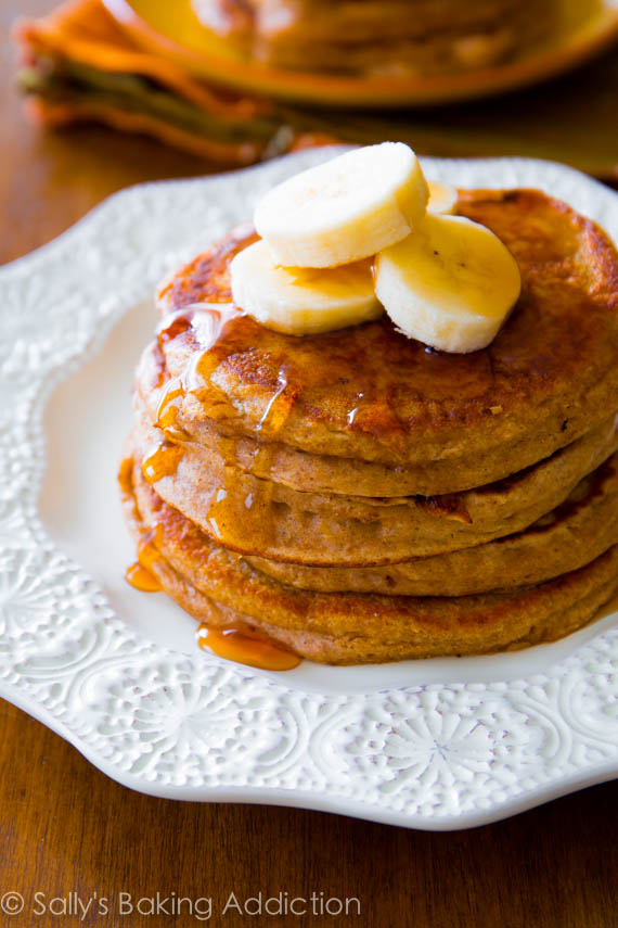 Wheat Banana Pancakes