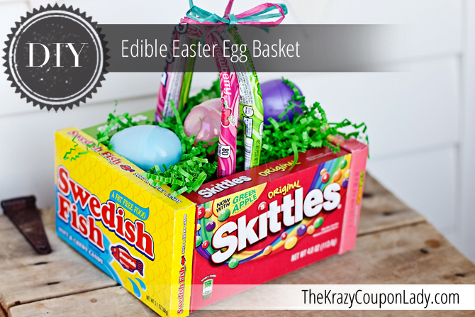 60 diy easter basket ideas for 2017 diy edible easter egg basket negle Gallery