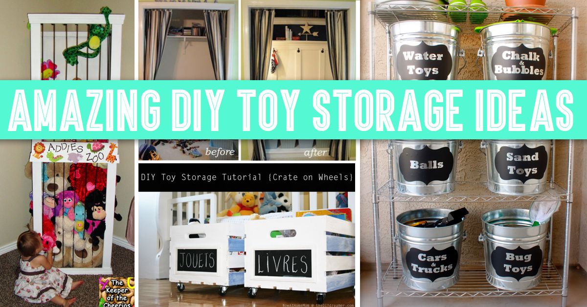 30+ Amazing DIY Toy Storage Ideas For Crafty Moms : storage toys  - Aquiesqueretaro.Com