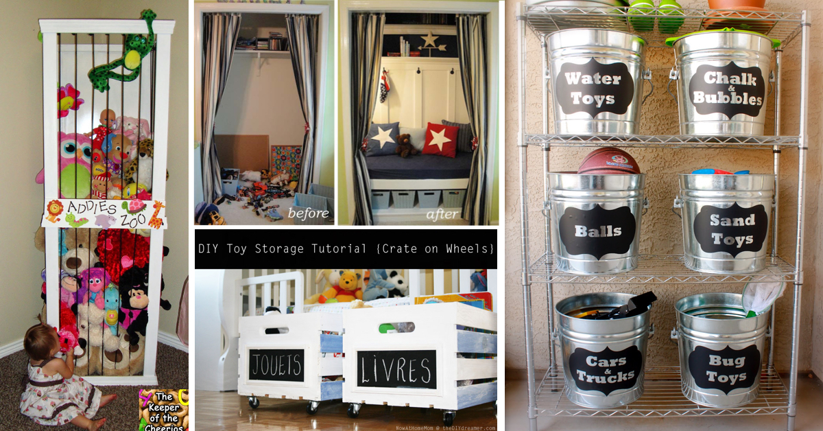 30 amazing diy toy storage ideas for crafty moms cute Cheap home storage ideas