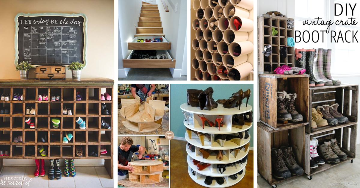 30+ Great Shoe Storage Ideas To Keep Your Footwear Safe And Sound! U2013 Cute  DIY Projects