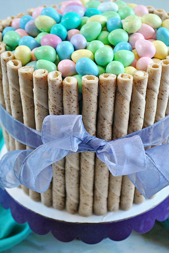 30 Minute Easter Basket Cake