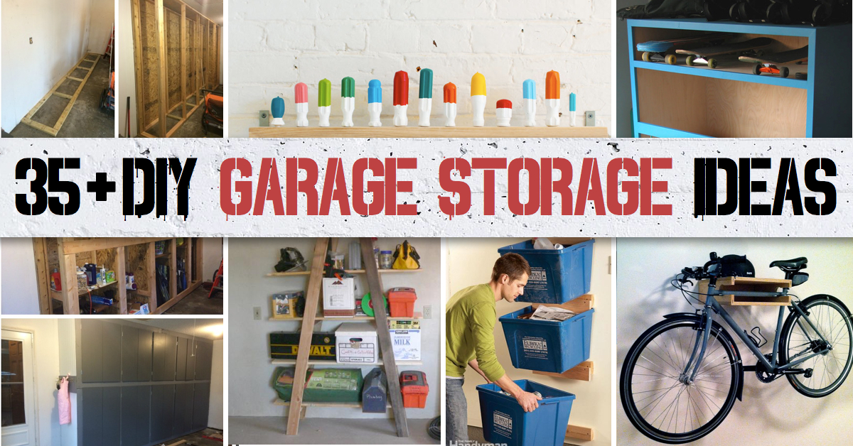 35  DIY Garage Storage Ideas To Help You Reinvent Your Garage On A Budget. 35  DIY Garage Storage Ideas To Help You Reinvent Your Garage On A