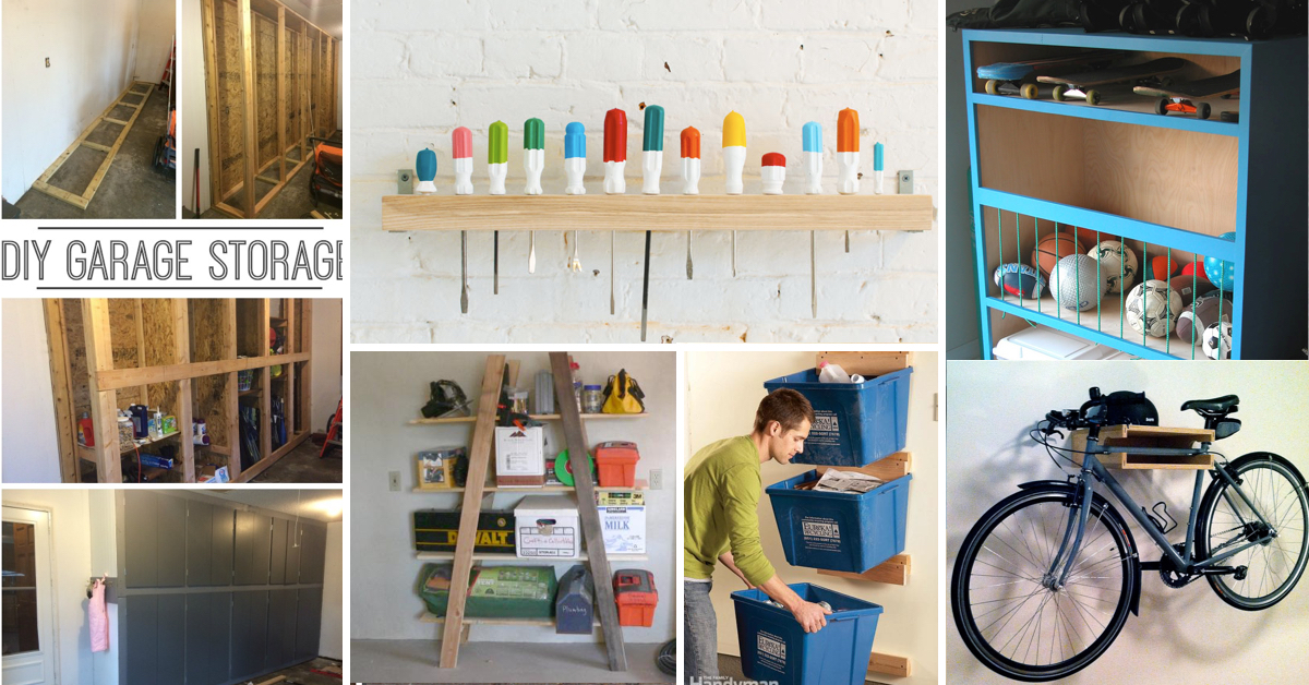 35 Diy Garage Storage Ideas To Help You Reinvent Your On A Budget Cute Projects