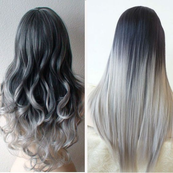 60 awesome diy ombre hair color ideas for 2017 gray ombre hair color idea for dark hair girls urmus Images