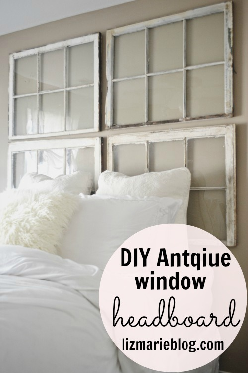 Antique Window Headboard