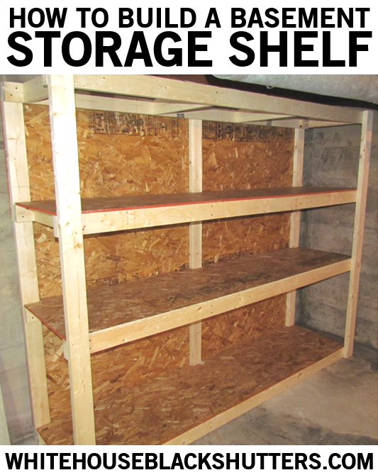 Basic Storage Shelf For Your Basement