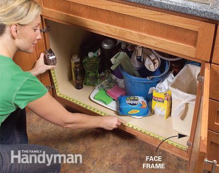 Build Some Kitchen Sink Storage Trays