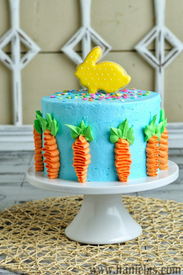 Buttercream Decorated Easter Cake
