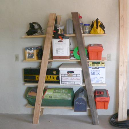 Cheap Garage Storage – Truss Shelves - 35+ DIY Garage Storage Ideas To Help You Reinvent Your Garage On A