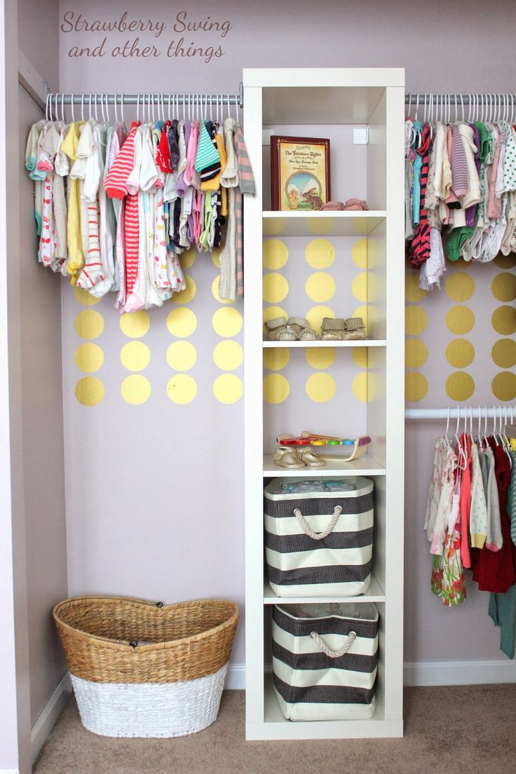 45 life changing closet organization ideas for your for Nursery room ideas for small rooms