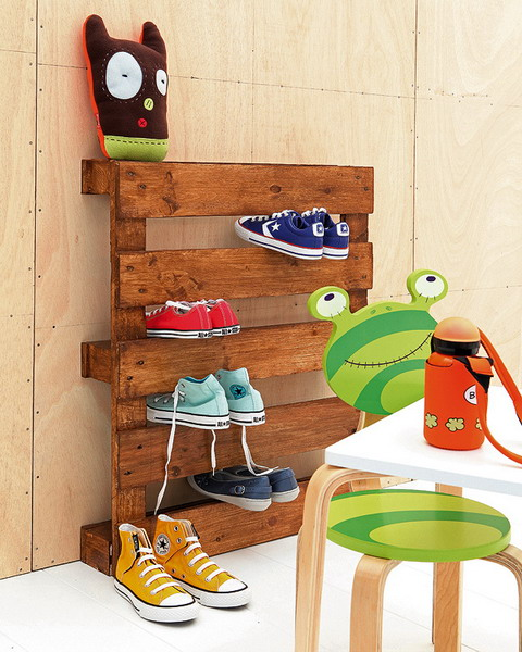 Cool Shoe Storage Idea For Your Kids' Room