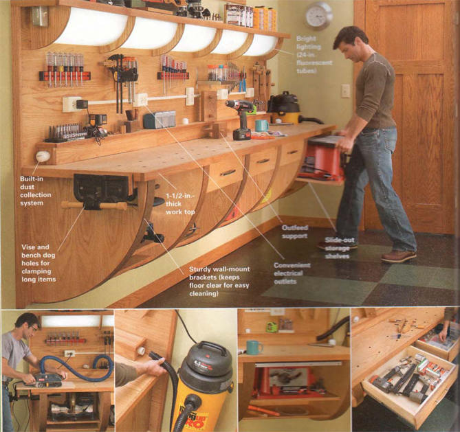 Popular Ultimate Garage Workshop  FineWoodworking
