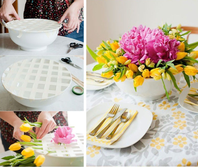DIY Floral Table Decoration