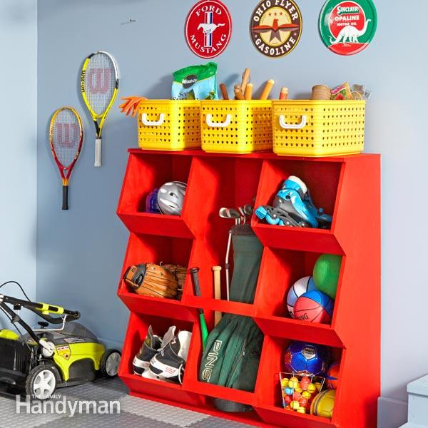 DIY Garage Toy Storage Ideas
