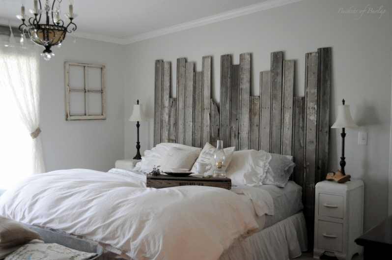 diy rustic headboard for your master bedroom - Diy Backboard Bed