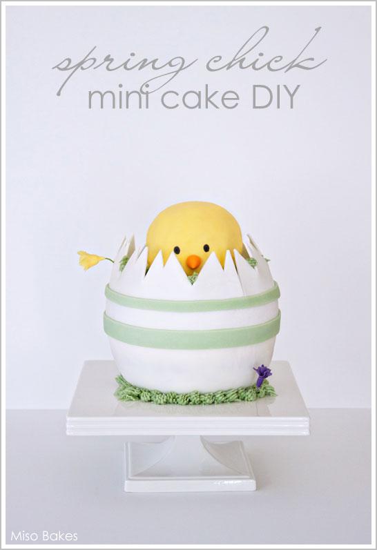 DIY Spring Chick Cake