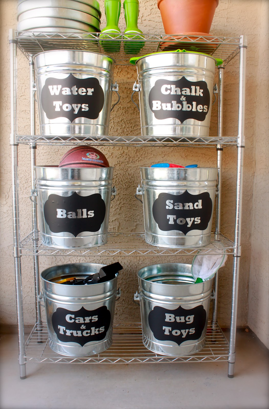 DIY Storage Idea For Outside Toys