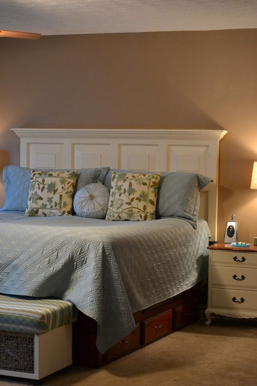 Do It Yourself Headboard Ideas Part - 29: Door Headboard