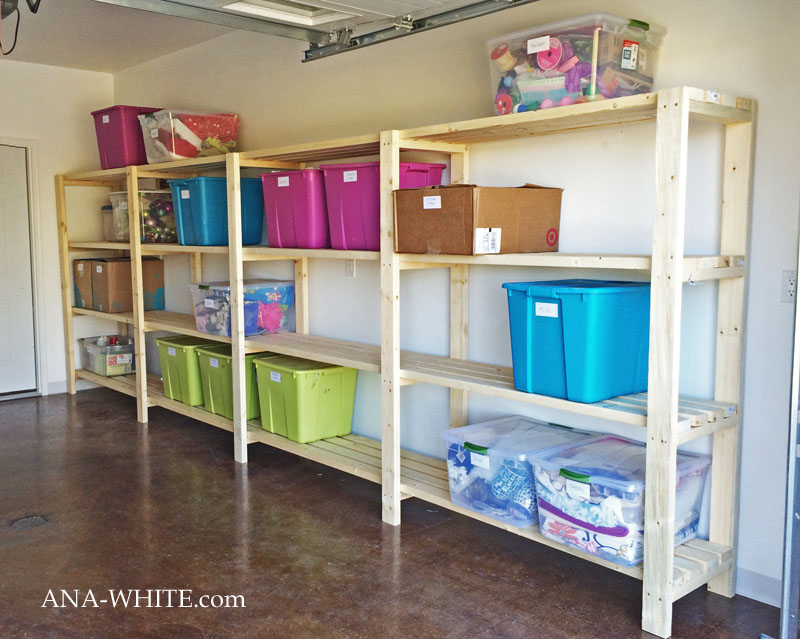 Easy And Economical Garage Shelving