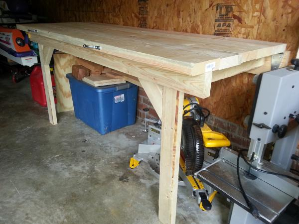 Folding Garage Workbench