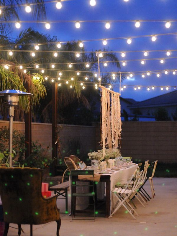 40 outstanding diy backyard ideas for Terrace lighting
