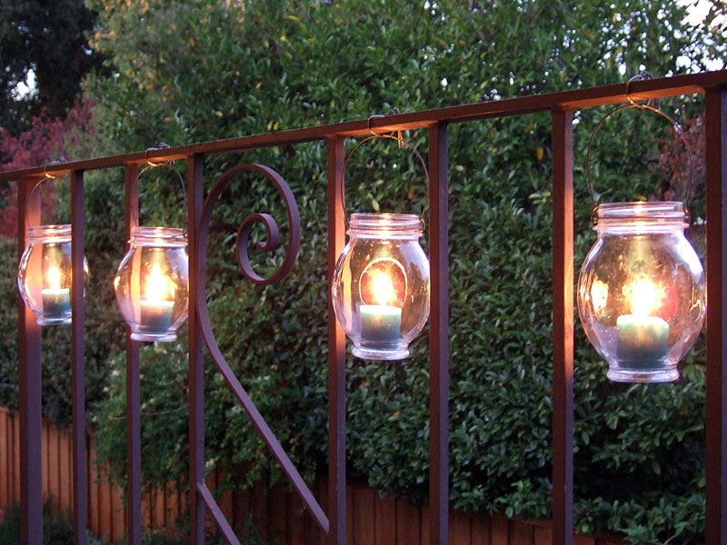 40 outstanding diy backyard ideas 14 hanging jar lanterns solutioingenieria Gallery