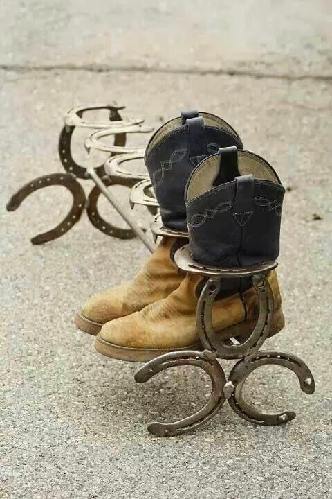 Horse Shoe Storage Idea