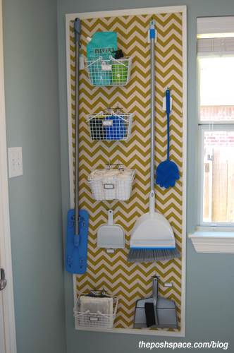 Laundry Room Pegboard Makeover
