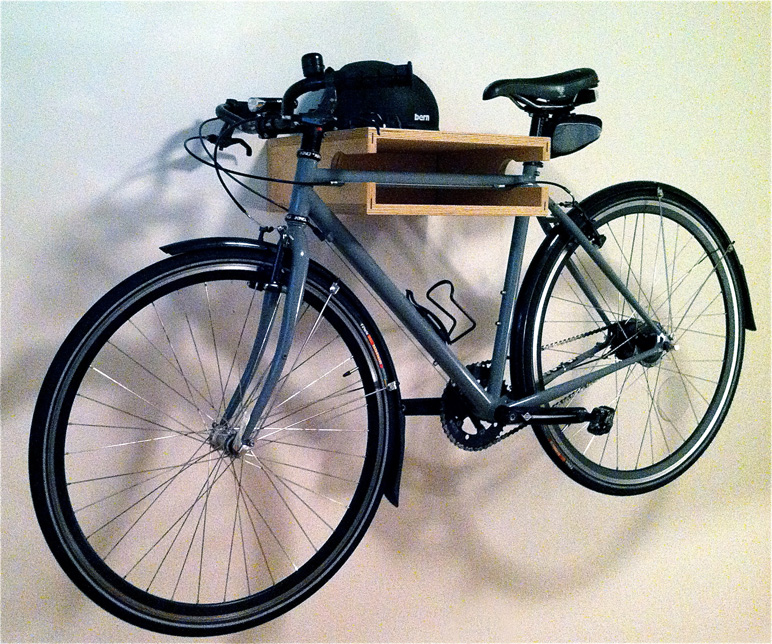 5 Quick And Cheap Garage Organizing Ideas Part - 46: Lovely Bike Shelf