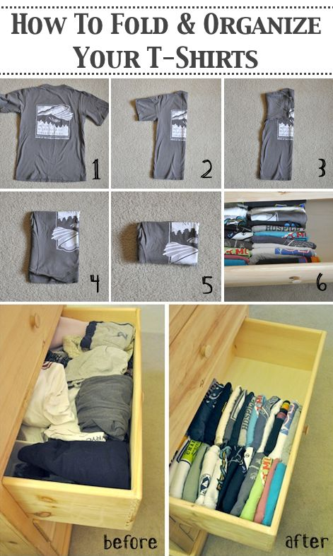 Organize Your T Shirts The Proper Way!
