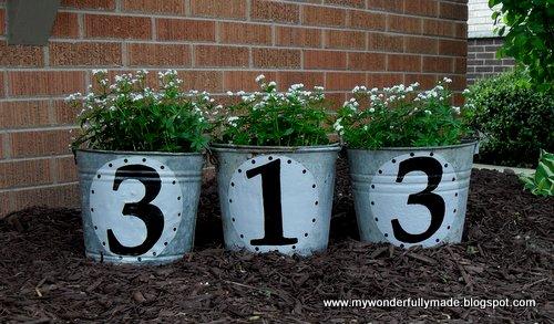 Outdoor Vintage Flower Buckets