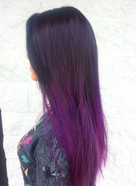 black violet ombre hair - photo #32