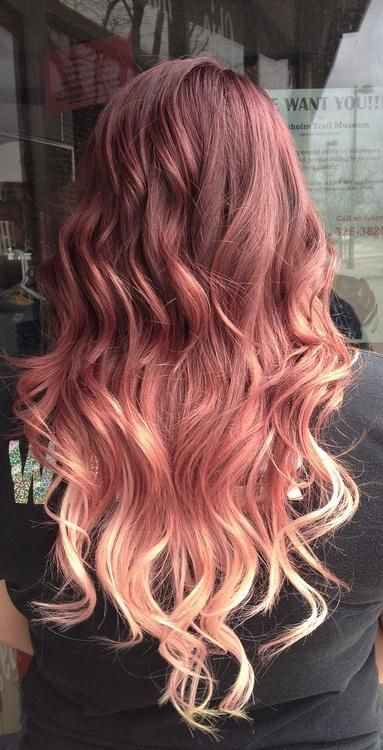 Red-Rose Ombre Style