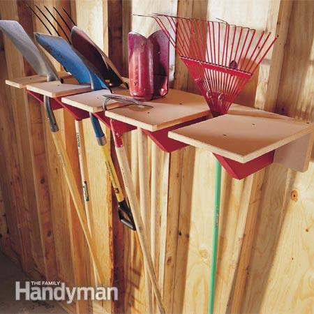 Shovel Rack Storage Idea