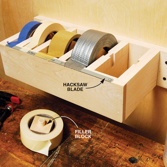35 diy garage storage ideas to help you reinvent your garage on a the jumbo tape dispenser solutioingenieria Gallery