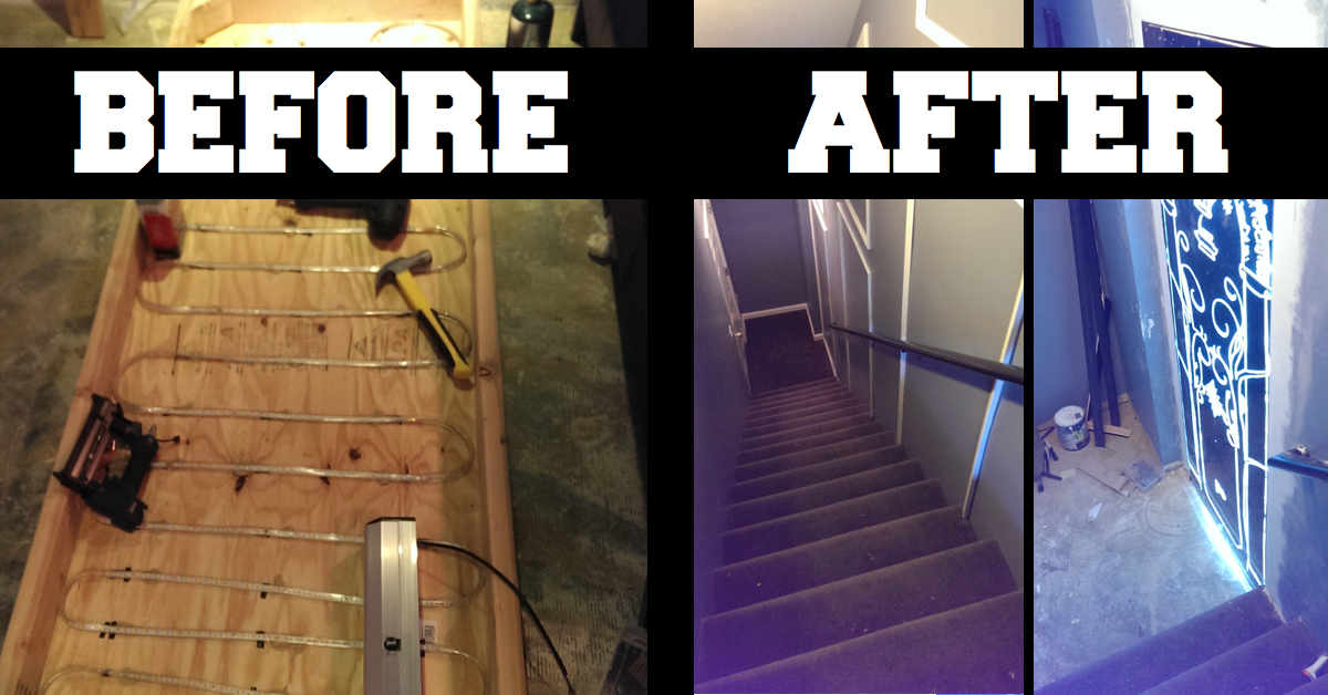 This guy transformed a boring basement door into something for Small diy projects for guys