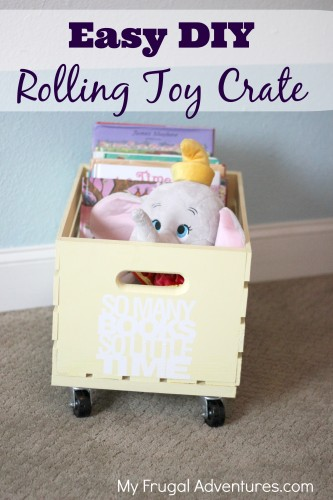 Toy And Book Crate Storage Idea
