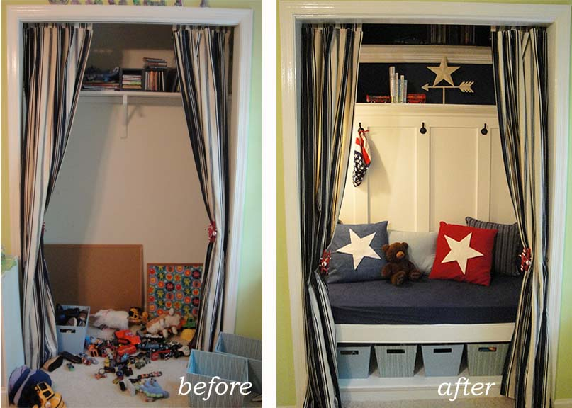 Turn The Closet Into A Lovely Toy Storage Unit