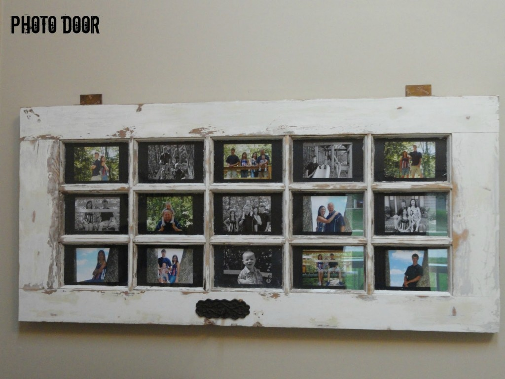 Turn Your Door Into A Multi-Purpose Photo Frame! - 25+ Crafty Old Door Vintage Decorations To Boost The Charm Of Your