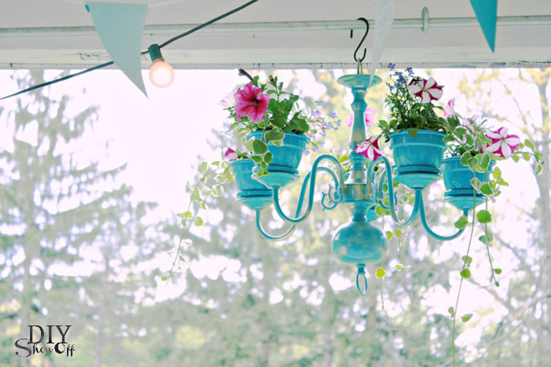 Turn Your Old Chandelier Into An Awesome Hanging Planter
