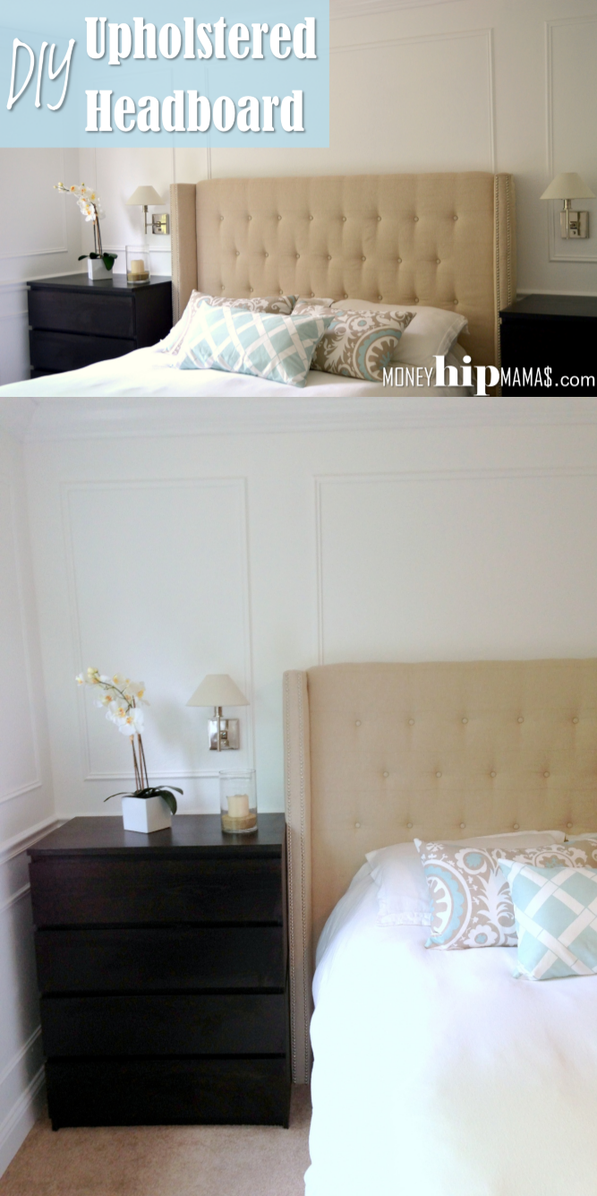 upholstered headboard with nailhead - Diy Backboard Bed